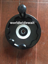 New 16mm x 160mm Black Ripple Hand Wheel Removable Revolving Handle
