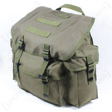 Olive Green German Army Rucksack - Repro Military Solider Bag Day Sack Pack New