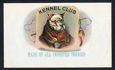 Old Original KENNEL CLUB Cigar Label - GEO. SCHLEGEL LITHO. - N.Y.