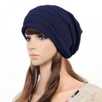 New Unisex Womens Knitted Oversized Beanie Cap Mens Winter Warm Ski Slouch Hat