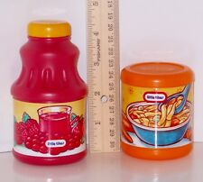 Lot Little Tikes Kitchen Play Pretend Food Containers & Fruit Juice Bottle