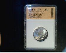 2005-P West Virginia State Quarter, Very High Grade Satin Coin  (US-722)
