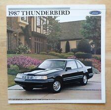 FORD THUNDERBIRD orig 1987 USA Mkt Large Format Brochure Catalogue - Sport Turbo