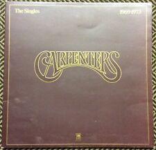 """THE CARPENTERS,THE SINGLES,1969-1973,VINTAGE,12"""" LP33,EXCELLENT CONDITION ."""