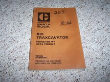 Caterpillar Cat 931 Traxcavator 3204 Engine Parts Catalog Manual 78U3914-