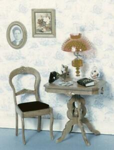 Chrysnbon Dolls House Victorian Table & Chair Furniture Kit Model Kit F-110