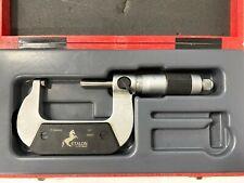 "Brown & Sharpe TESA Etalon 71.115900 Outside Micrometer, 1-2"" Range, .0001"""