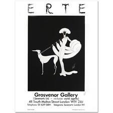 """ERTE """"EBONY IN WHITE"""" FINE ART POSTER SIGNED BY ERTE,  W/COA 24X32"""
