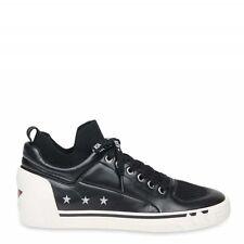 ASH NIPPY Black Leather & Knit Womens Trainers Size UK 7 / EU 40 , A14502-BBK