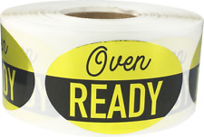 Oven Ready Grocery Market Food Stickers, 1.25 x 2 Inches, 500 Labels on a Roll
