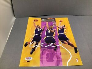 Kobe Bryant Signed Los Angeles Lakers 8x10 Photo Autographed PSA/DNA COA 1A