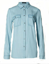Marks and Spencer Women's Hip Length Collared Casual Tops & Shirts