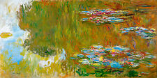Monet 1917, Water Lily Pond, Canvas Print, Fade Resistant HD Print or Canvas