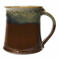 Clay In Motion Handmade Ceramic Medium Mug Coffee Cup 16 oz - Mocha