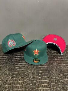 Hat Club Houston Astros ASG Custom 59Fifty Green/Gold/Fuchsia New 2021