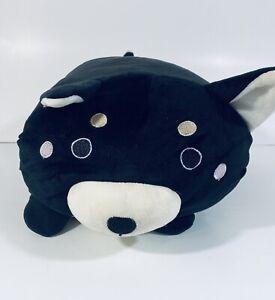 Fiesta Lil' Huggy Black Cat Bear Plush Stuffed Animal Plump Soft Toy Pillow