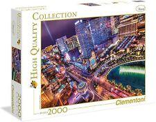 Clementoni High Quality Collection großes Puzzle Las Vegas bei Nacht 2000 Teile