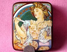 Russian trinket LACQUER Box REPRODUCTION MUCHA Lance Parfum Rodo (1896) Poster