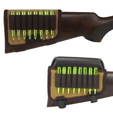 Tourbon Hunting Rifle Cartridges Carrier Buttstock Holder with Comb Riser or not