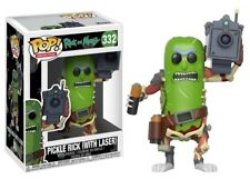 FUNKO POP ANIMATION RICK AND MORTY PICKLE RICK W/ LASER  #332 NEW VINYL FIGURE