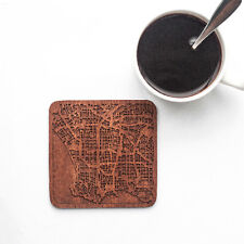 Los Angeles map coaster One piece  wooden coaster Multiple city IDEAL GIFTS