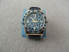 New Arm Candy Quartz Watch with a Blue Leather Band