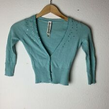 Abercrombie & Fitch Turqoise Beaded Sweater Size Small