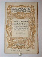 GIORGIO VASARI: Vita di PIETRO PERUGINO 1914 Bemporad Vitetti Illustrato Tavole