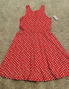 NWT Old Navy GIRLS DRESS SIZE LARGE (10-12) Red SLEEVLESS