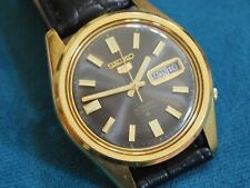 Nice Vintage SEIKO 6119 Gold Tone 21J Automatic Men's Watch w/Date /Day
