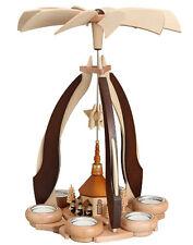 Design-Pyramide Teelicht Seiffener Kirche Fa. Zeidler 0576 Erzgebirge Seiffen