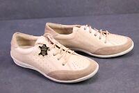 C1214 SanaVital Damen Comfort-Schuhe Schnürschuhe Leder beige Gr. 38 Fußbett
