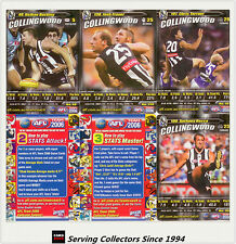 2006 AFL Teamcoach Trading Cards How To Play Team set Collingwood (10)