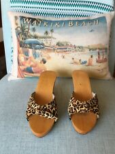 Lucky Lou Shoes size 6 wedge Leopard Print