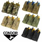 Condor Triple 5.56/.223 Modular MOLLE PALS Tactical Open Top Magazine Pouch MA55