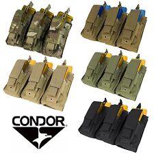 Condor MA55 Tactical MOLLE PALS Triple Kangaroo Rifle/Pistol Magazine Mag Pouch