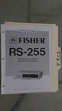 Fisher rs-255 service manual original repair book stereo receiver tuner radio