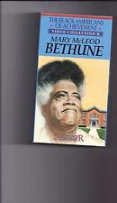 MARY McLEOD BETHUNE  Black Americans of Achievement VHS MINT!