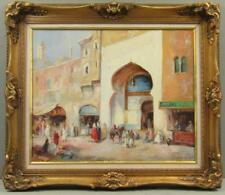 Islamic Architectural Landscape Painting Oil on Canvas by Alexey Rychkov Russian