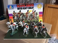 Box of painted plastic 1/32 Italeri Napoleonic British Heavy Cavalry Scots Greys