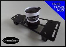 Vespa PX T5 LML floor board rack CUP HOLDER satin black CLASSIC RACKS