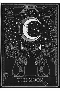Killstar The Moon Tapestry Moon Stars Anubis Crystals Goth Decor New