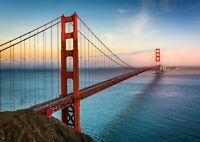 Golden Gate Bridge Poster Print Size A4 / A3 Travel Landscape Poster Gift #8926