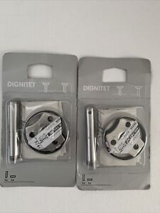 2 IKEA Dignitet Support Fixture Stainless Steel NEW 400 780 30 ~B1