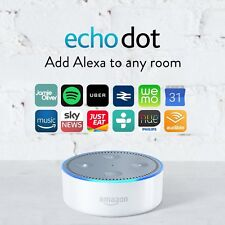 ⇒ EU plug ⇐ Amazon Echo Dot white ✔ Brand New 2nd Gen ✔ No customs charges in EU