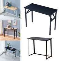 Wood Foldable Computer Desk Portable Laptop Study Writing Table For Home Office