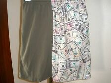Youth Territory Shorts Lacrosse Lax Shorts Taupe & Money Print Sz Medium