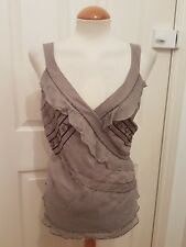 ladies AUTOGRAPH beaded evening top size 22 mink party SILK