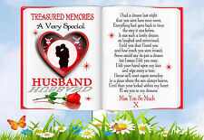 HUSBAND  MEMORIAL BEREAVEMENT GRAVESIDE  BOOK CARD & FREE HOLDER