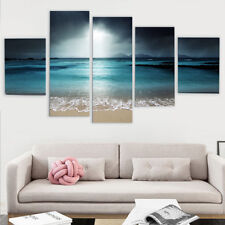 5Pcs Sunset Beach Canvas Painting Print Picture Home Wall Art Decor frame AU
